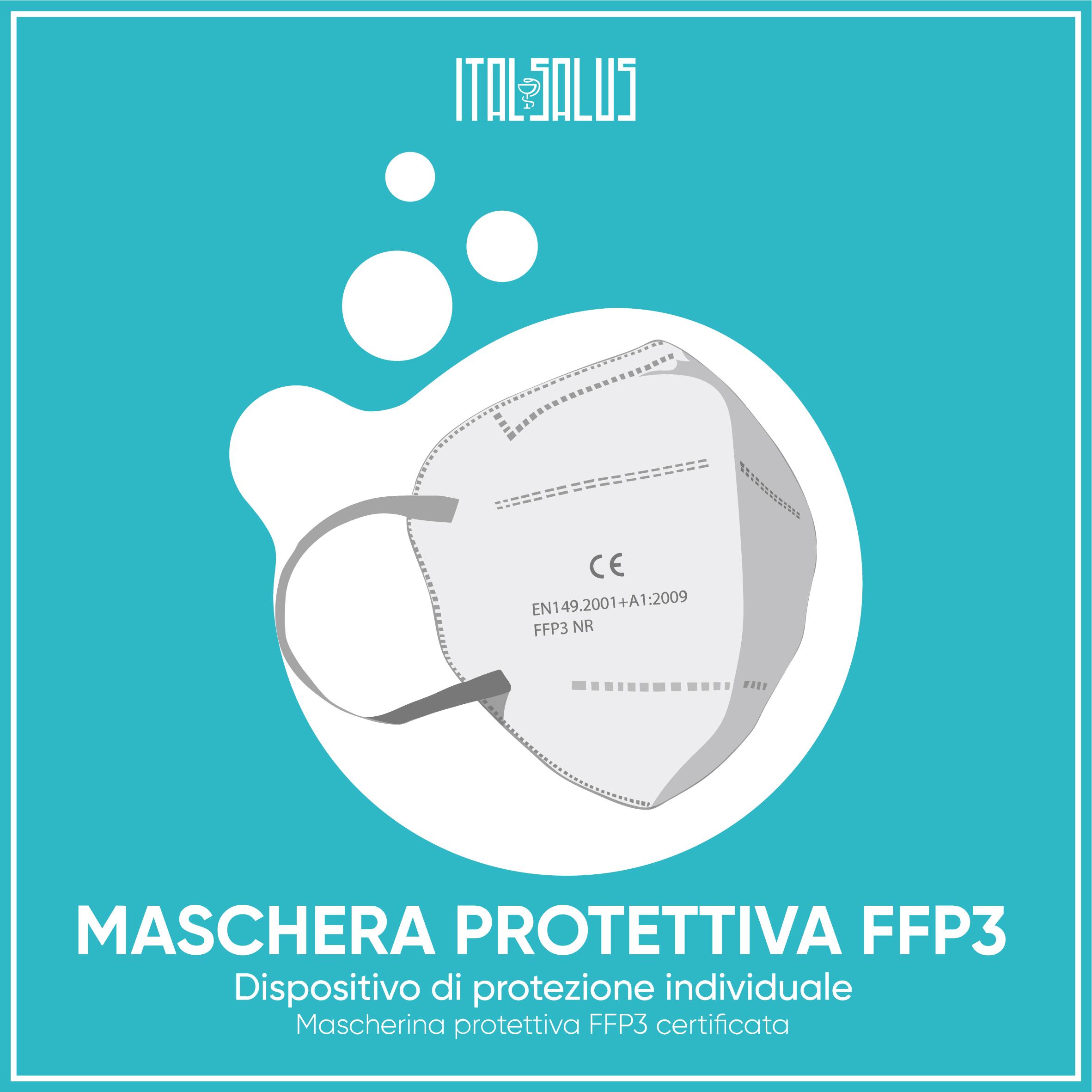 disegno mascherina protettiva FFP3 certificata