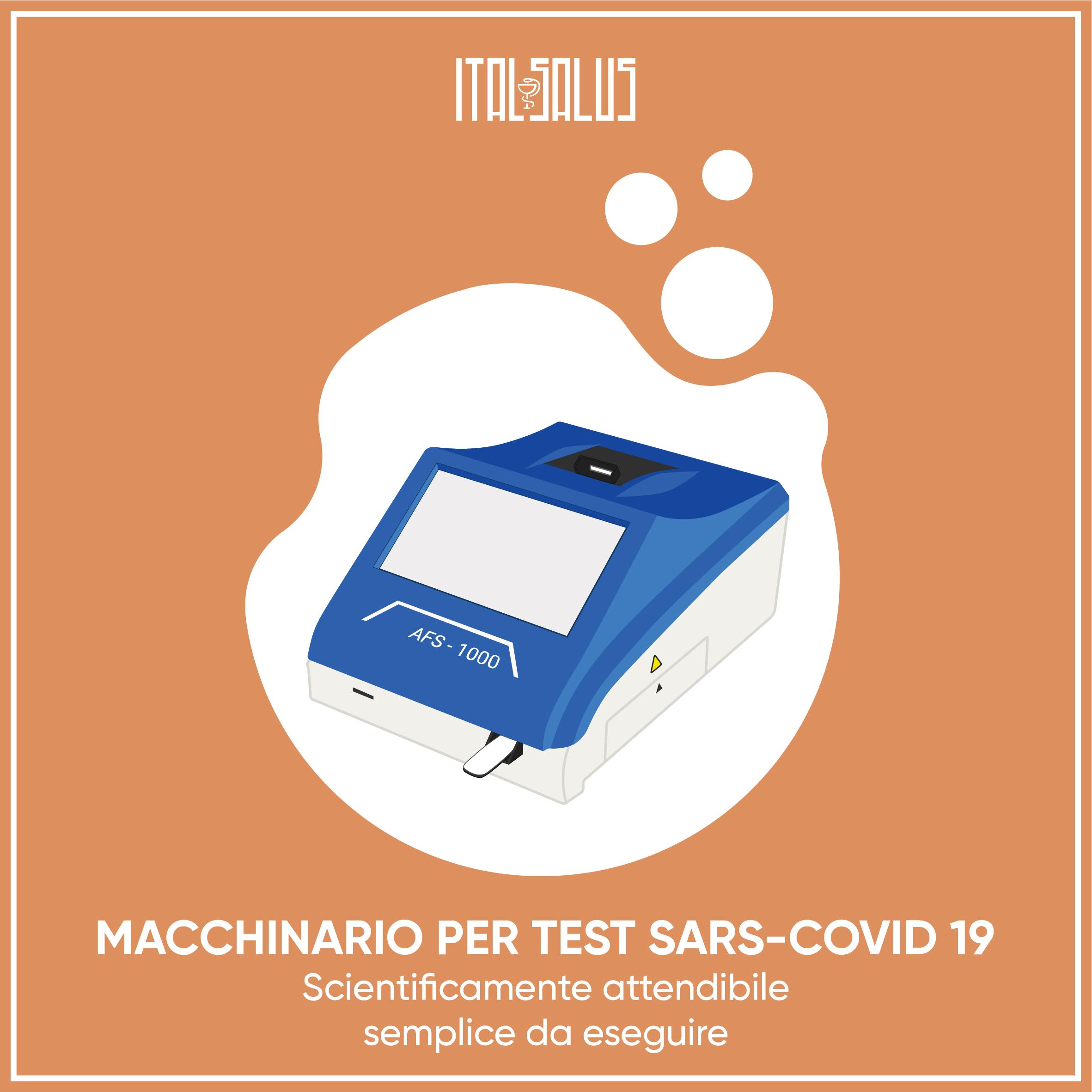 disegno macchinario per test sars covid 19