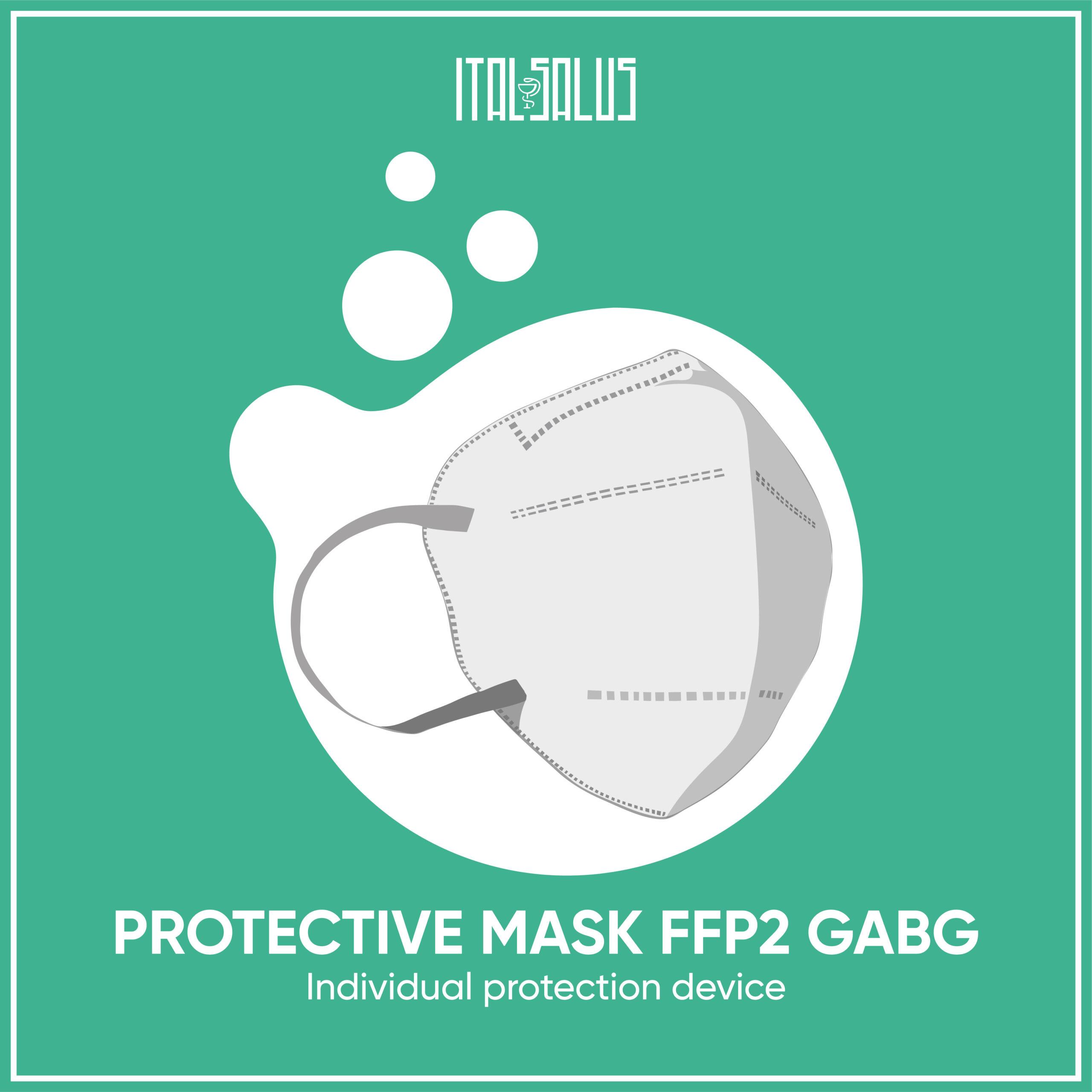 protective mask ffp2 gabg draw