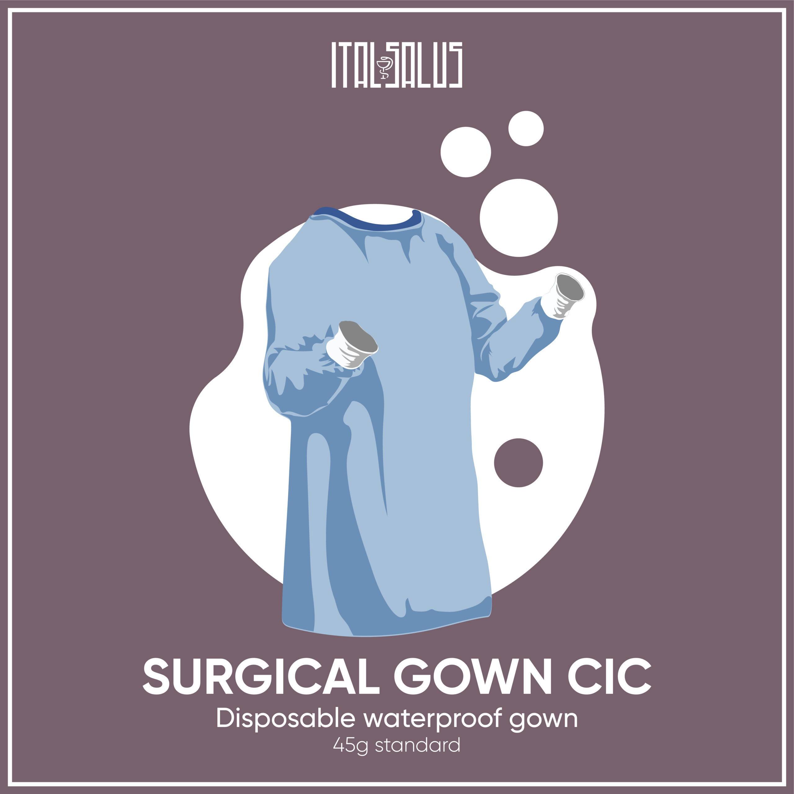 surgical gown cic draw 45g