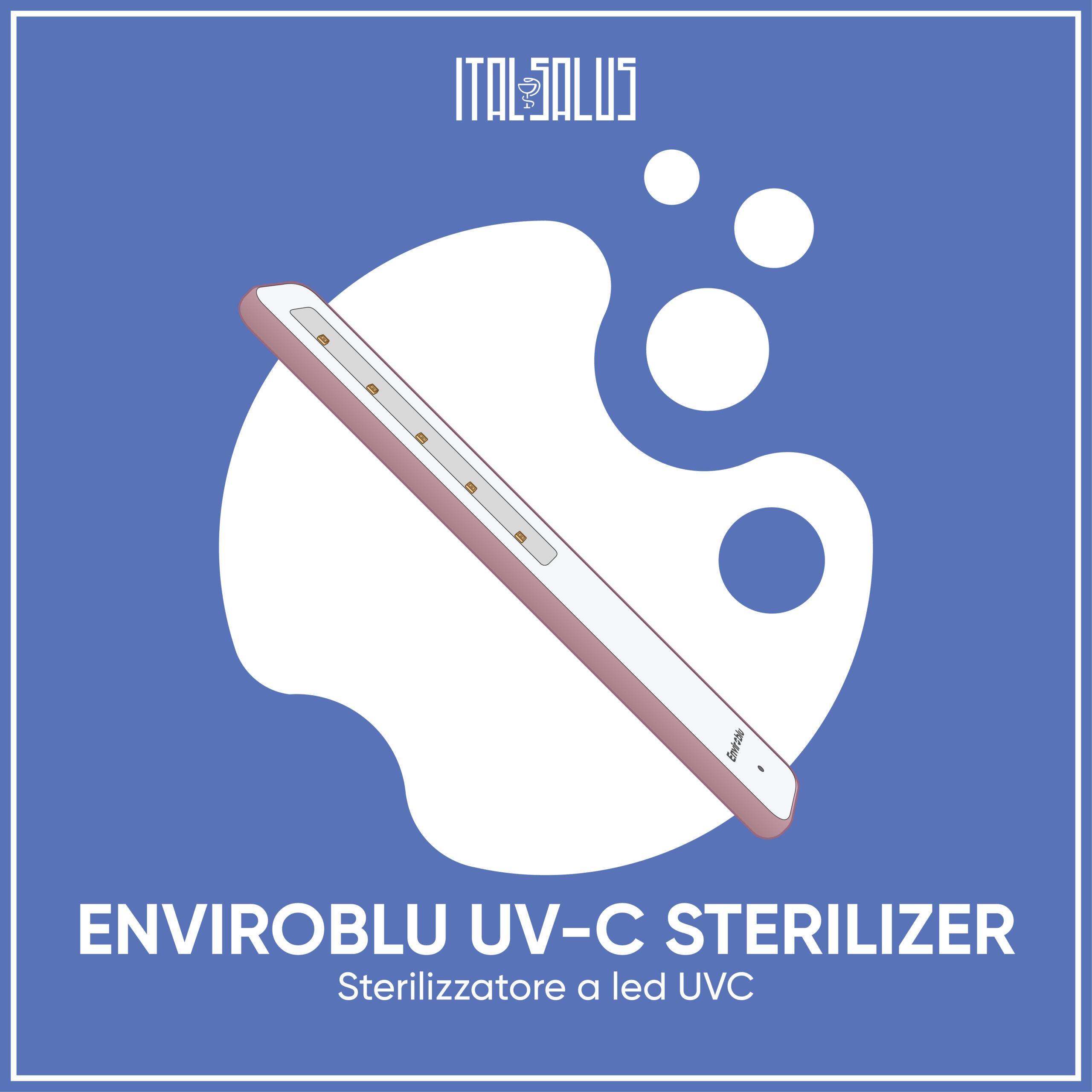 disegno sterilizzatore portatile a raggi UV-C Enviroblu