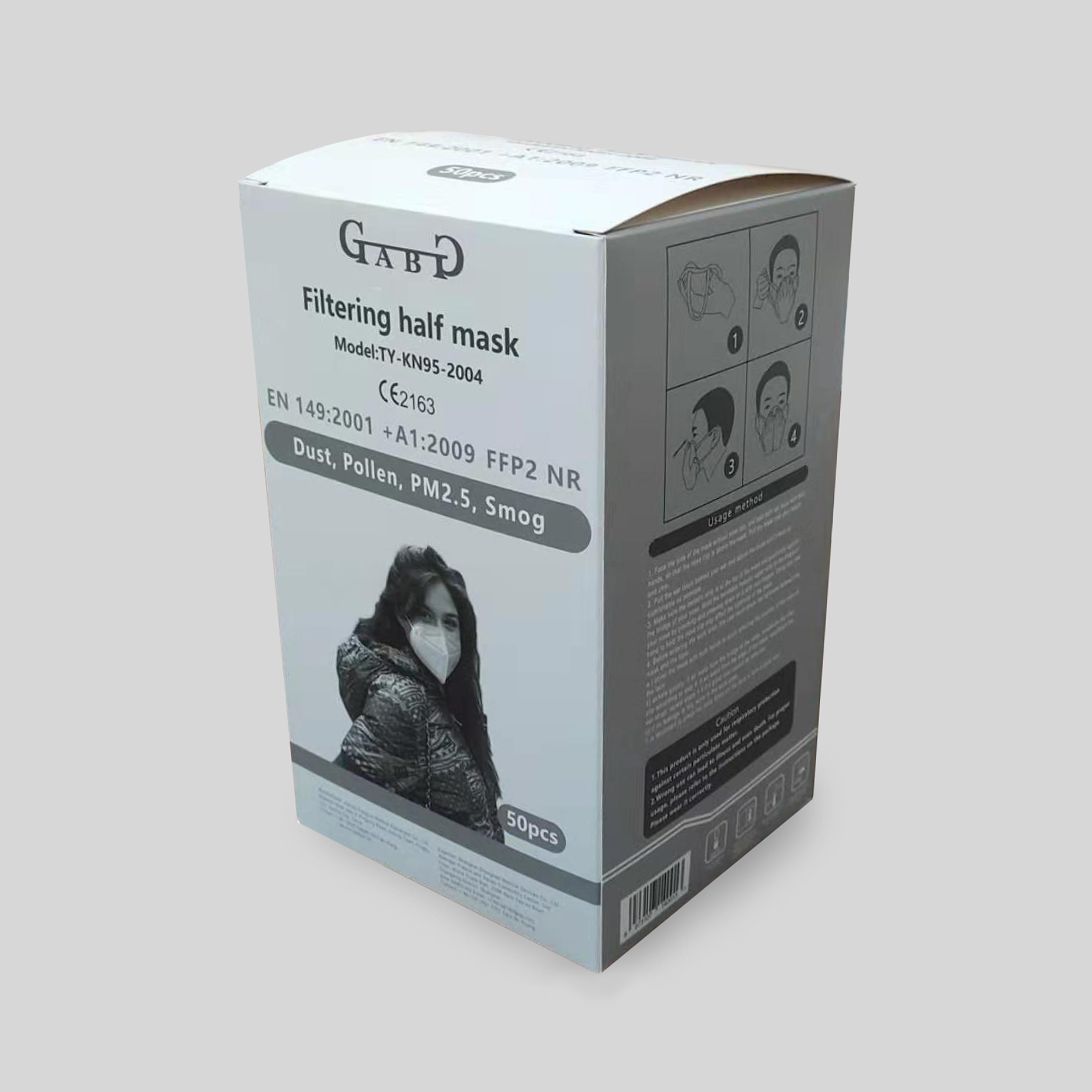 immagine packaging mascherina protettitva FFP2 GABG