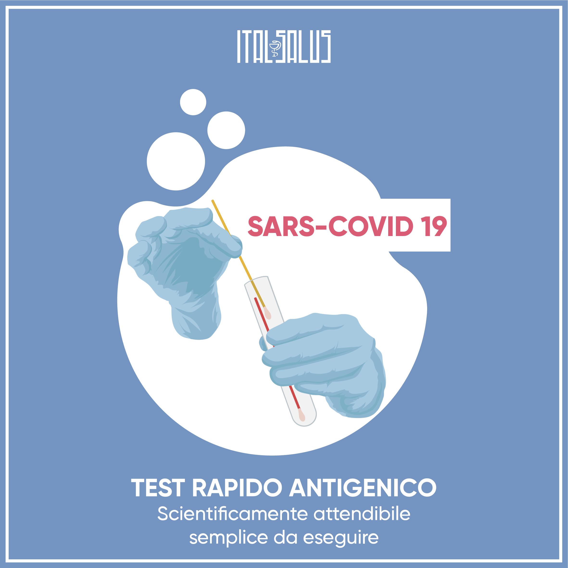 disegno test Antigenico sars covid 19