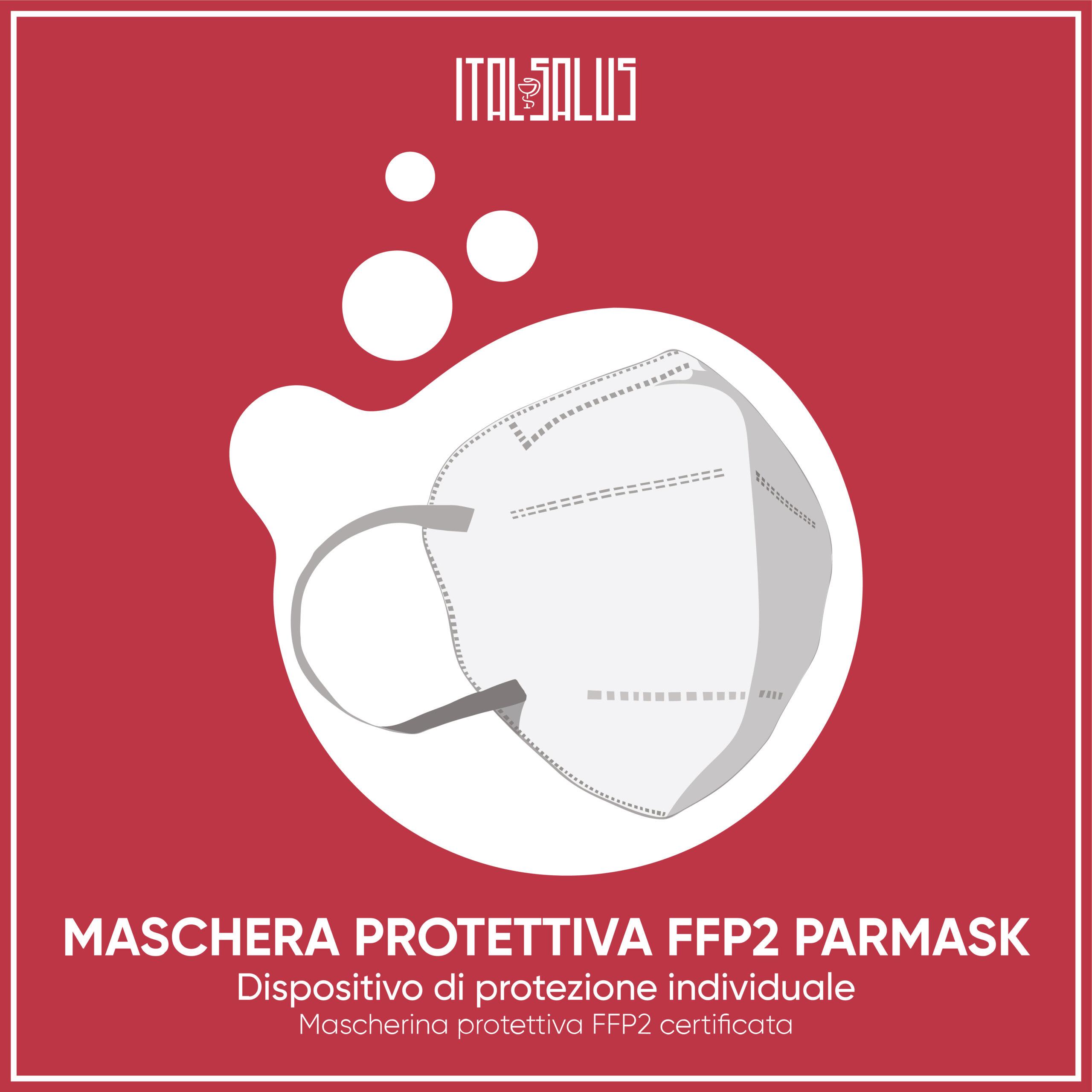 disegno di mascherina protettitva FFP2 PARMASK